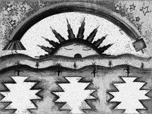 Morning Blessings Navajo Art by Lajasta Wauneka