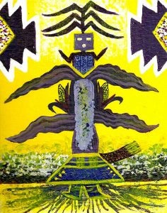 Sacred Corn Navajo Art by Lajasta Wauneka
