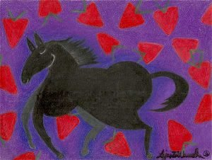 Strawberry Navajo Art by Lajasta Wauneka